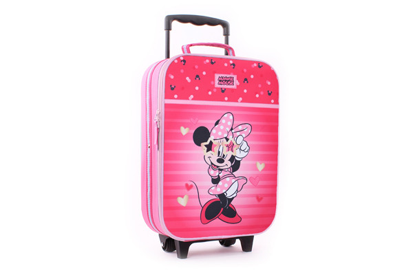 Kinderkoffer Minnie Mouse met hartjes