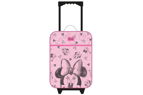 Kinderkoffer Minnie Mouse roze.